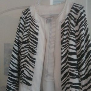 Jacket lined zebra print